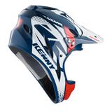 Blue BMX helm