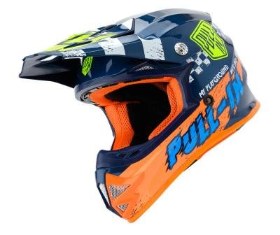 Pull in helm Trash Blue orange