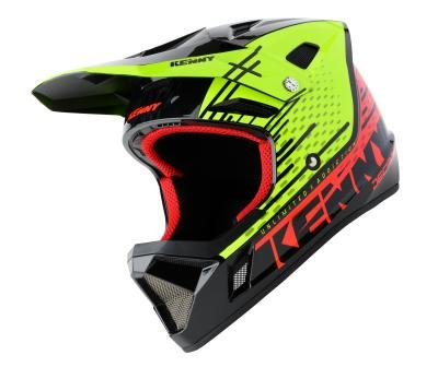 Kenny BMX / MX Helm red neon yellow