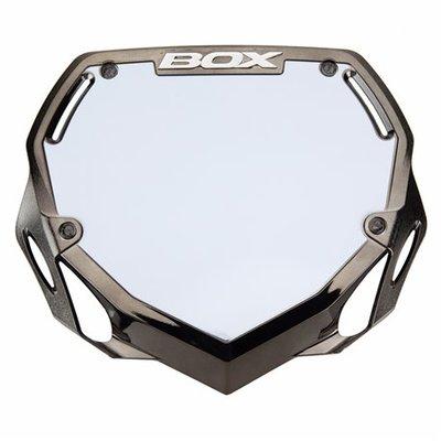 BMX nummerbord BOX black Chrome