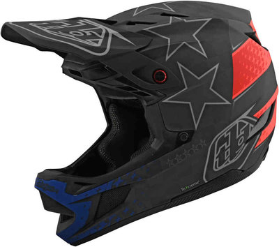 TLD D4  Carbon Freedom 2.0 Black / Red helm