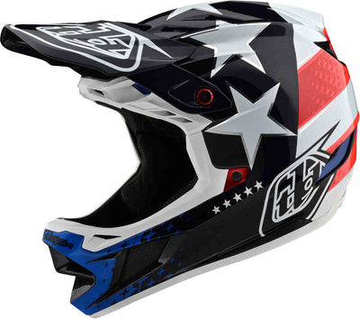 TLD D4 Composite Freedom 2.0 Red /White helm