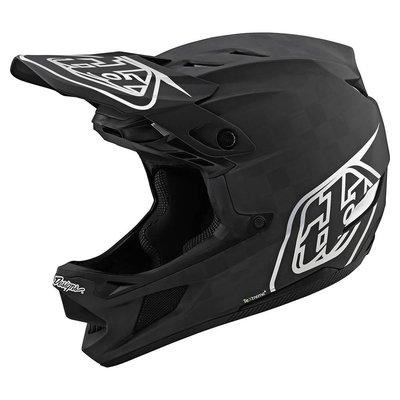 TLD D4 Stealth Black silver carbon helm