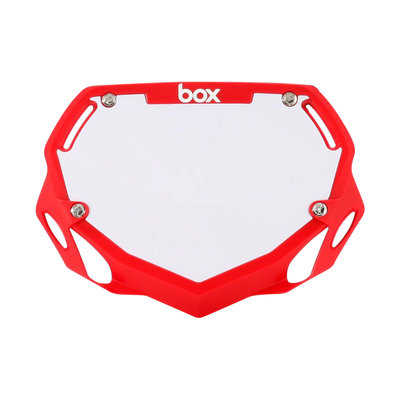 BOX Nummerbord Rood
