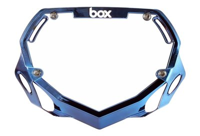 BOX Nummerbord Blue Chrome