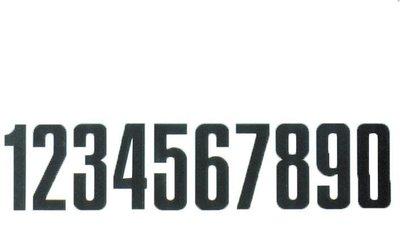 Nummers zijbord